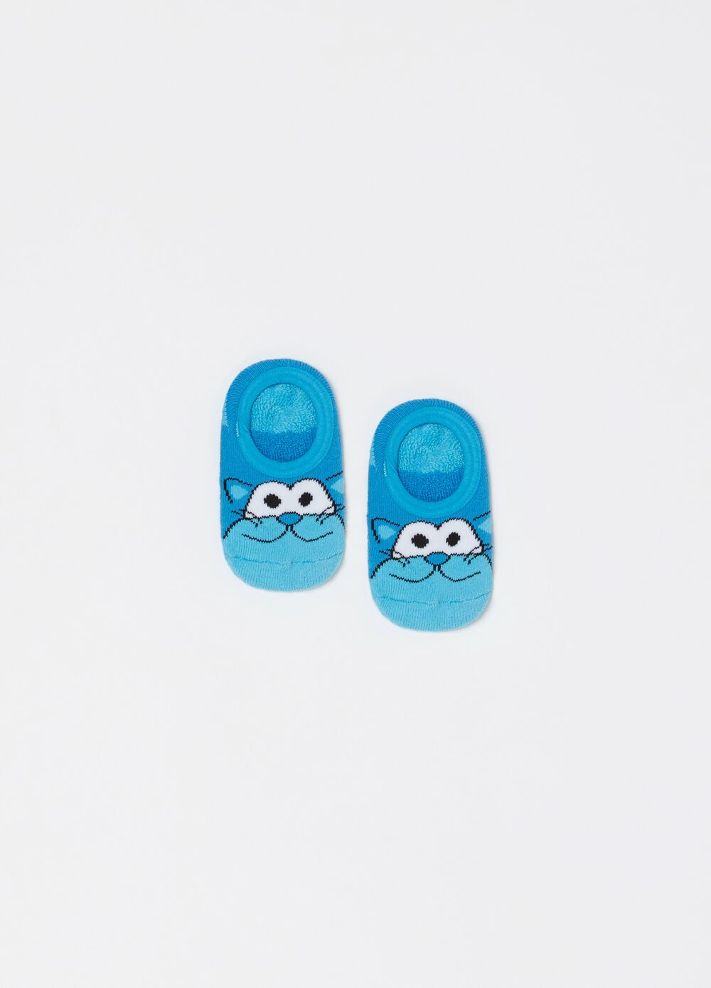 Stretch slipper socks with print