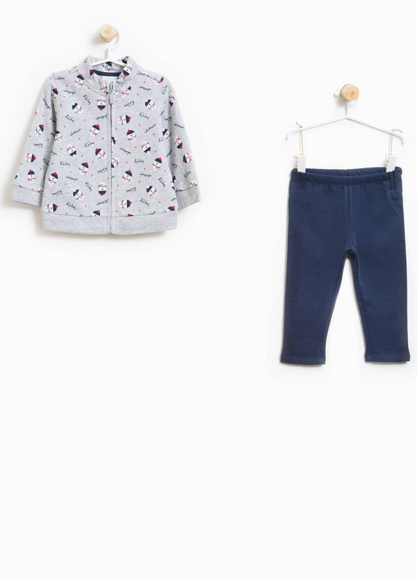 100% cotton tracksuit with Christmas pattern | OVS