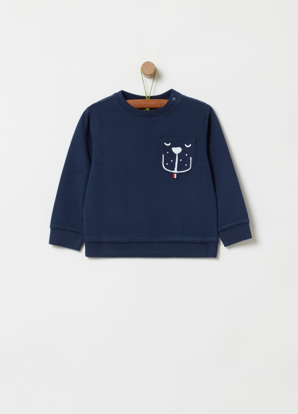 100% organic cotton sweatshirt with pocket