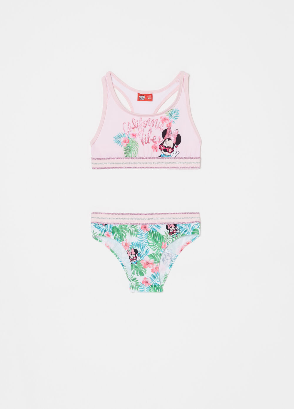 Disney Baby glitter bikini with top and briefs