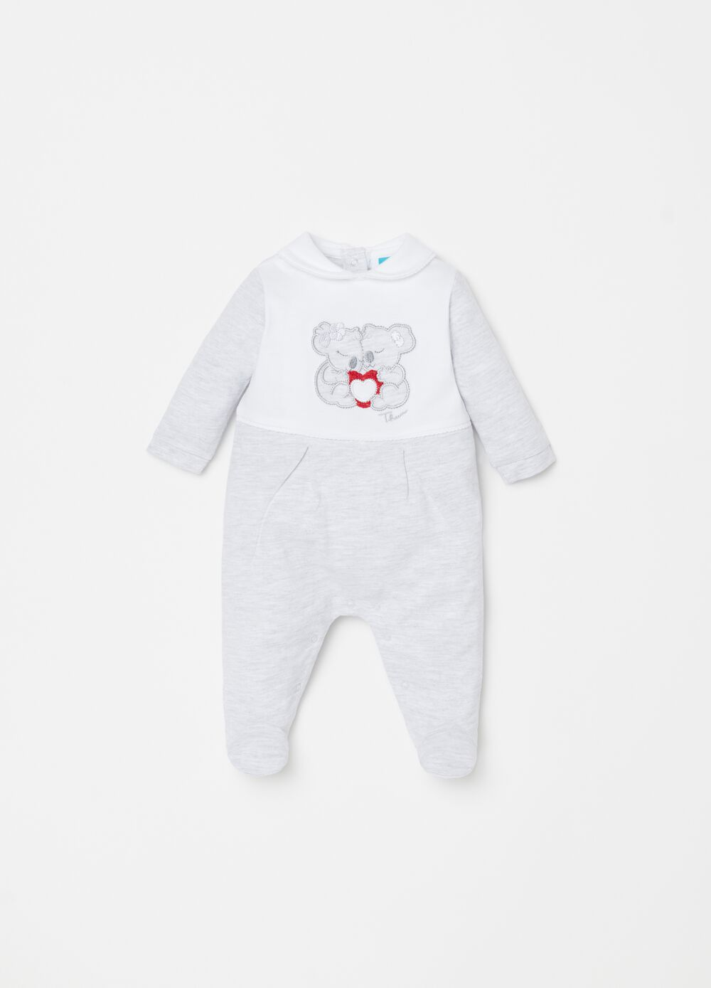 THUN two-tone onesie with feet
