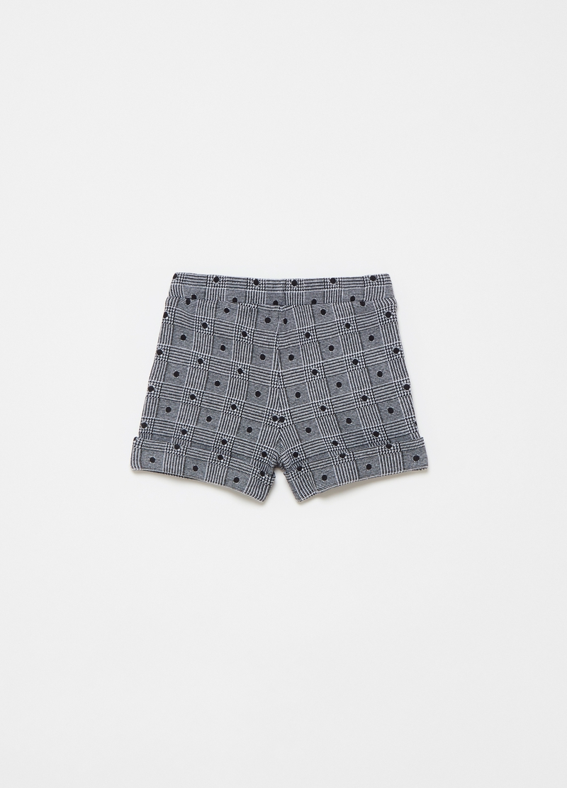 Short in Prince of Wales fabric with polka dots image number null