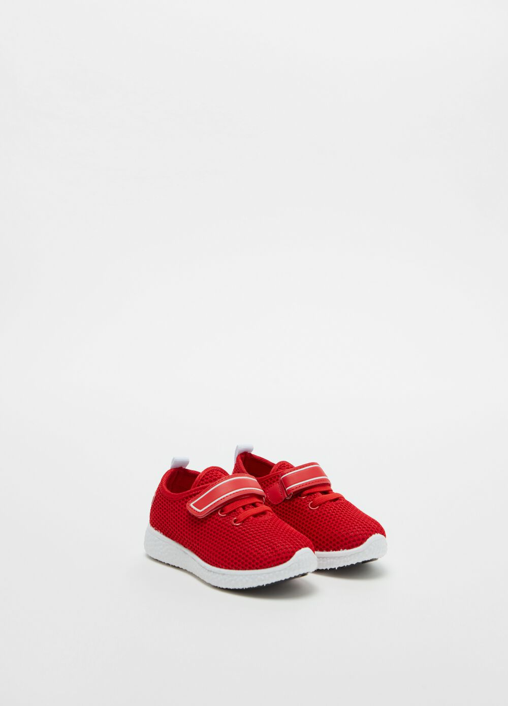 Sneakers with laces and Velcro