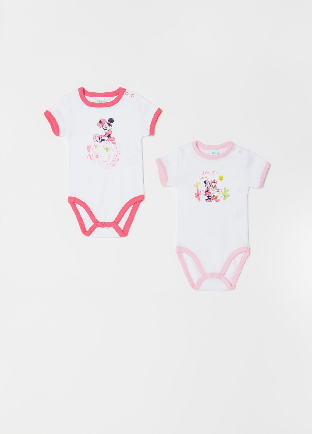 Two-pack Disney Baby ribbed bodysuits