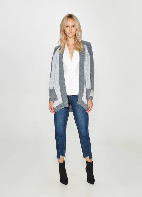 Stretch cardigan with trim | OVS