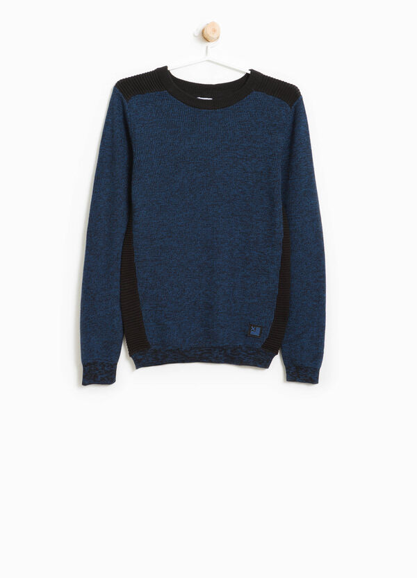 100% cotton ribbed pullover | OVS