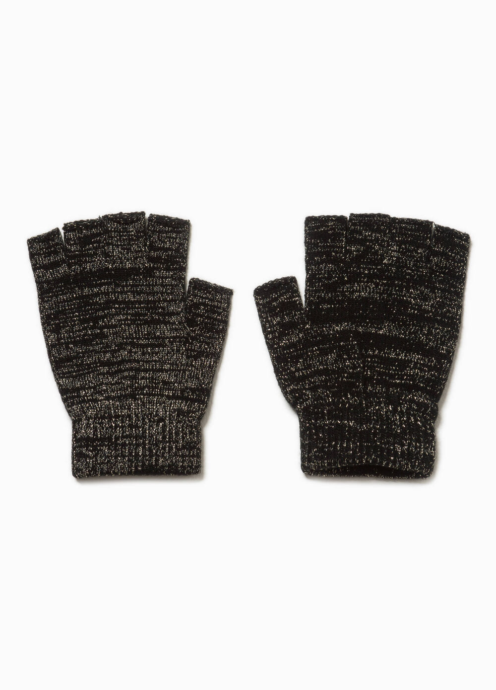 Fingerless glitter gloves