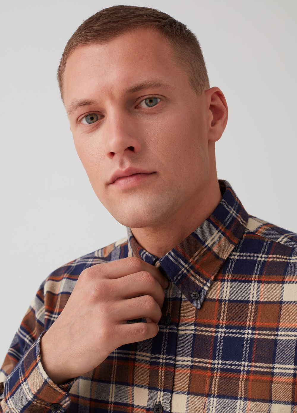 100% cotton regular-fit shirt with pattern