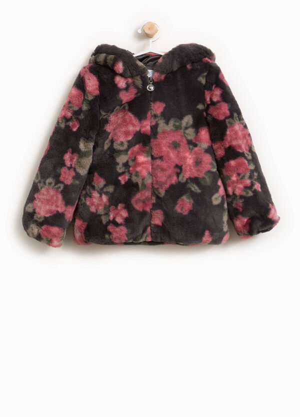 Floral fur jacket | OVS