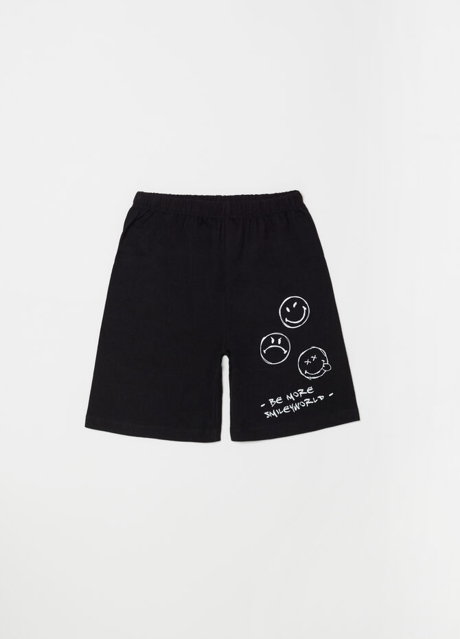 Lightweight jersey pyjamas with top and shorts