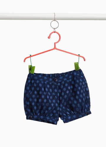 Patterned shorts with buttons