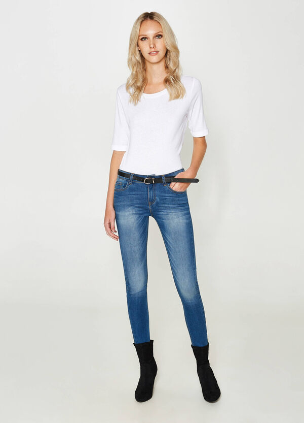 Washed-effect, skinny-fit stretch jeans | OVS