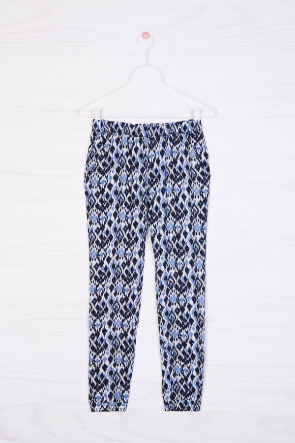 Printed trousers in 100% viscose   OVS