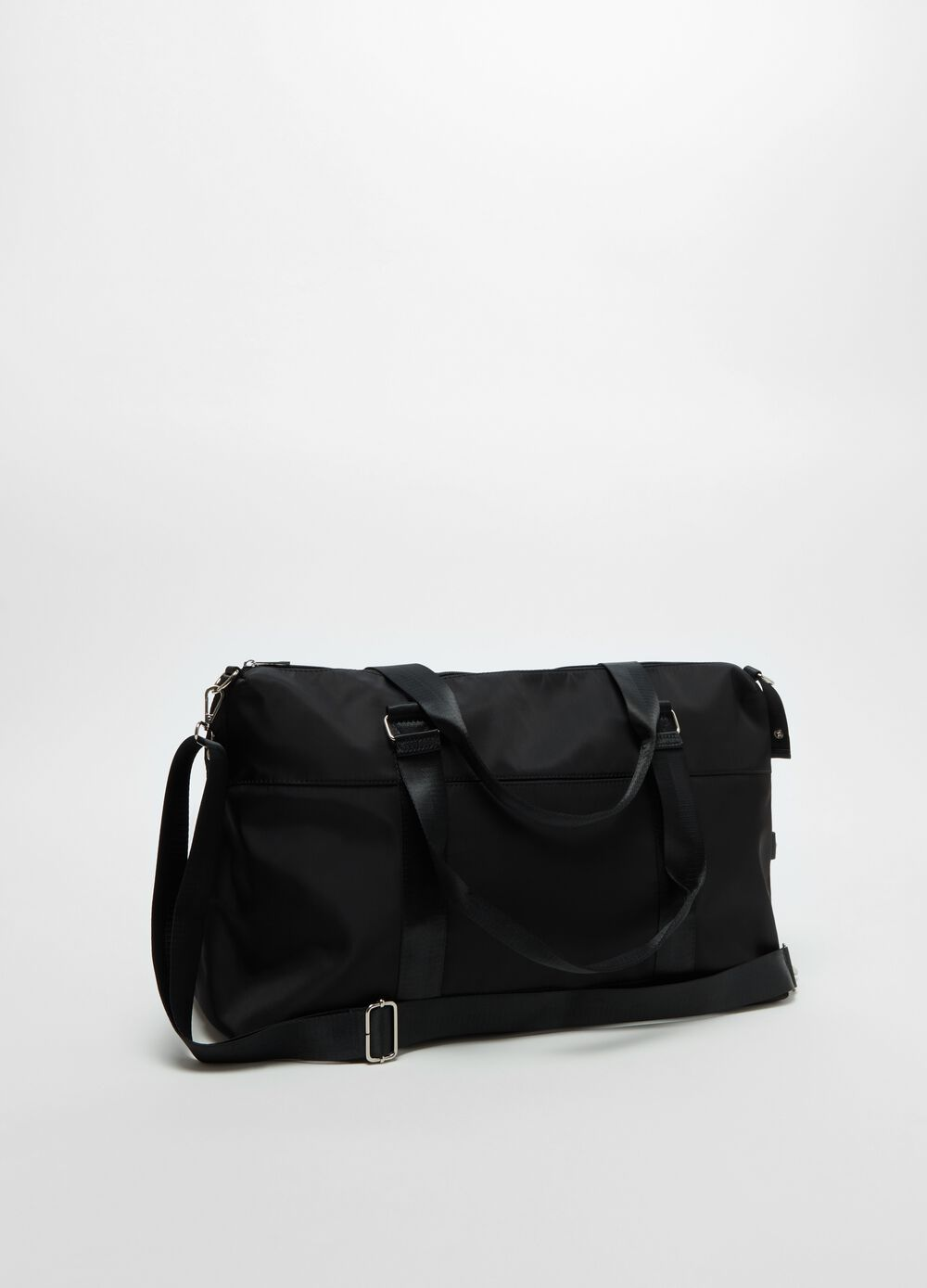 Solid colour holdall with shoulder strap