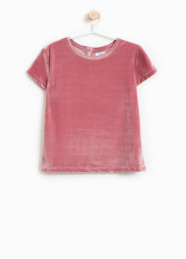 Round neck stretch T-shirt | OVS