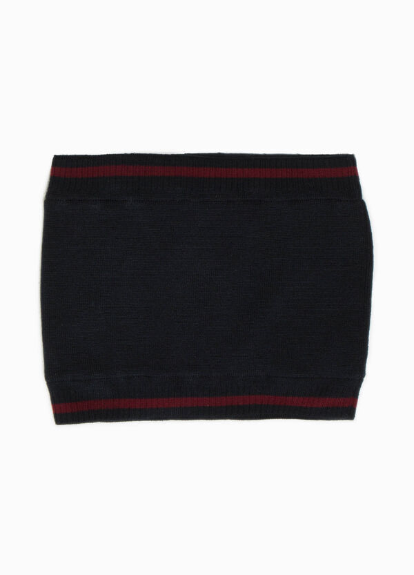 Neck warmer with striped ribbing | OVS