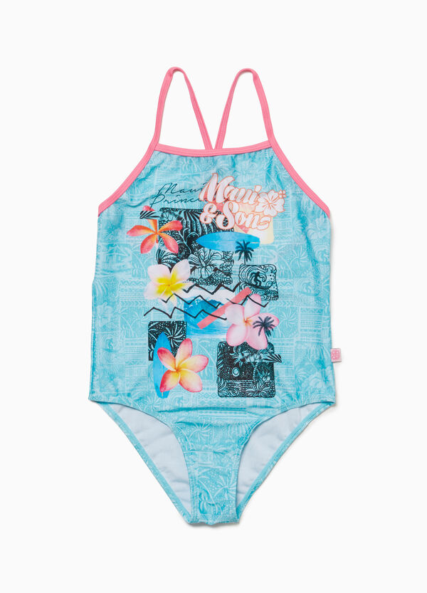 Patterned one-piece swimsuit by Maui and Sons