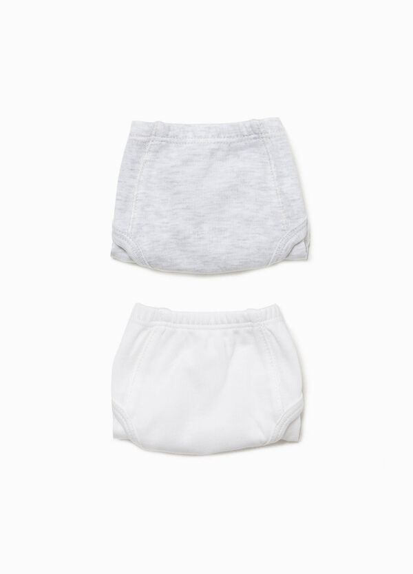 Two-pack solid colour organic cotton briefs | OVS