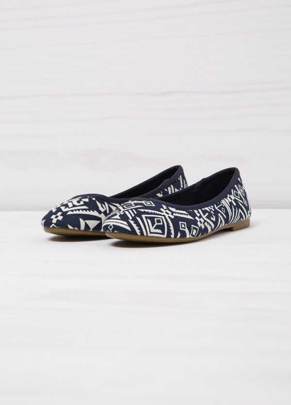Patterned ballerina flats with round toe   OVS
