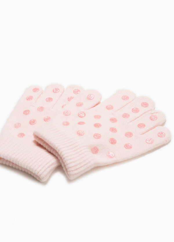 Stretch gloves with non-slip palm   OVS