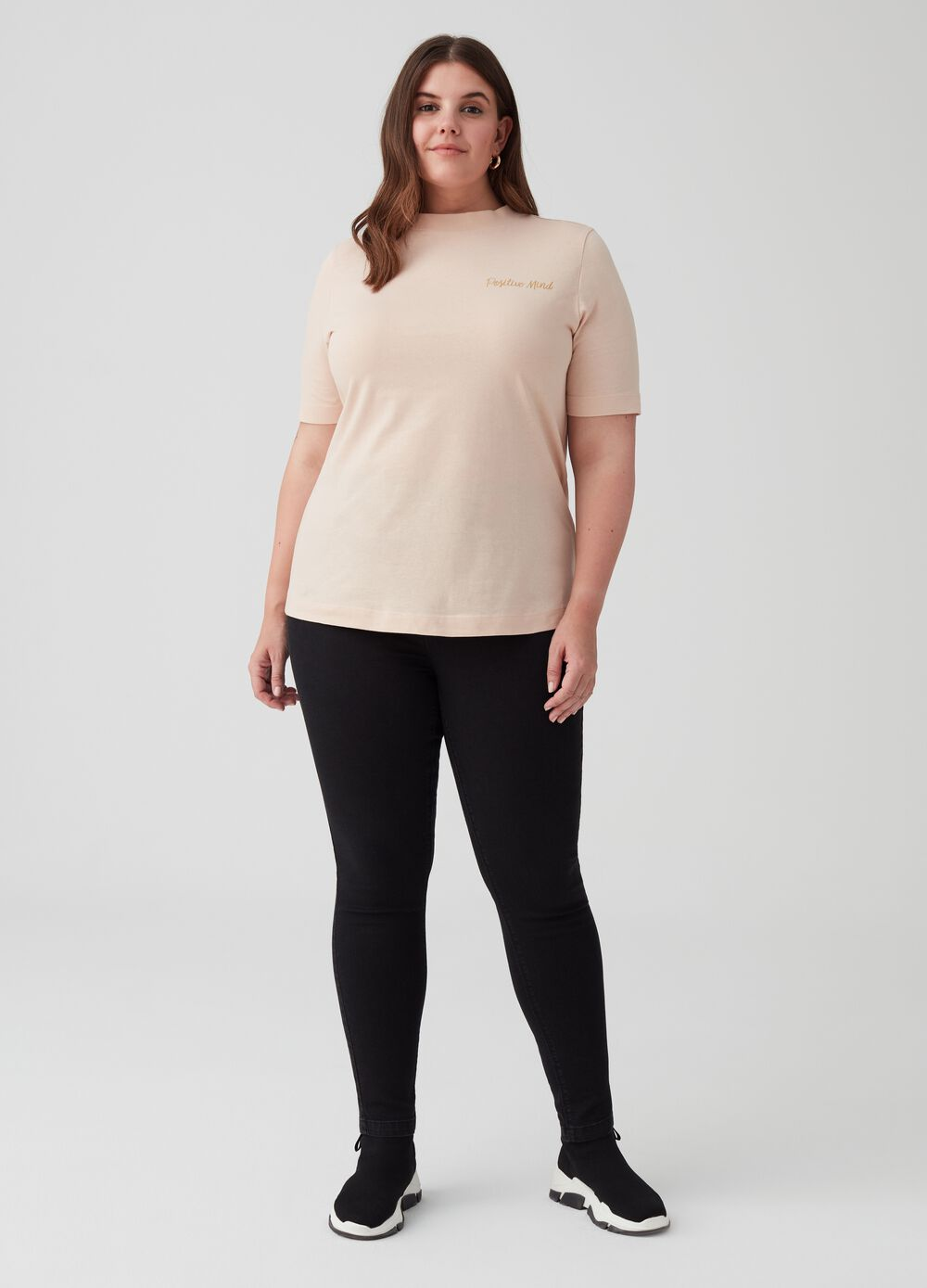 Curvy jeggings with elasticated waist and pockets