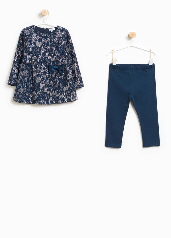 Cotton leggings and dress outfit | OVS