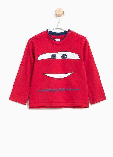 T-shirt in cotton with Cars print
