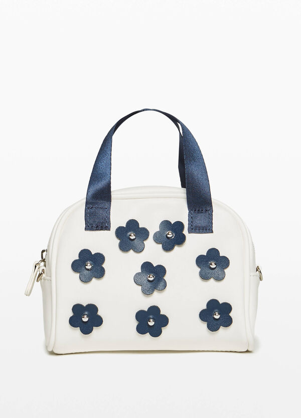 Handbag with flower patches