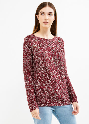 Knitted mélange pullover