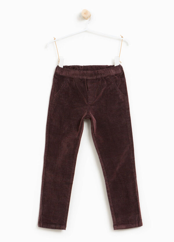 Stretch cotton and viscose trousers | OVS