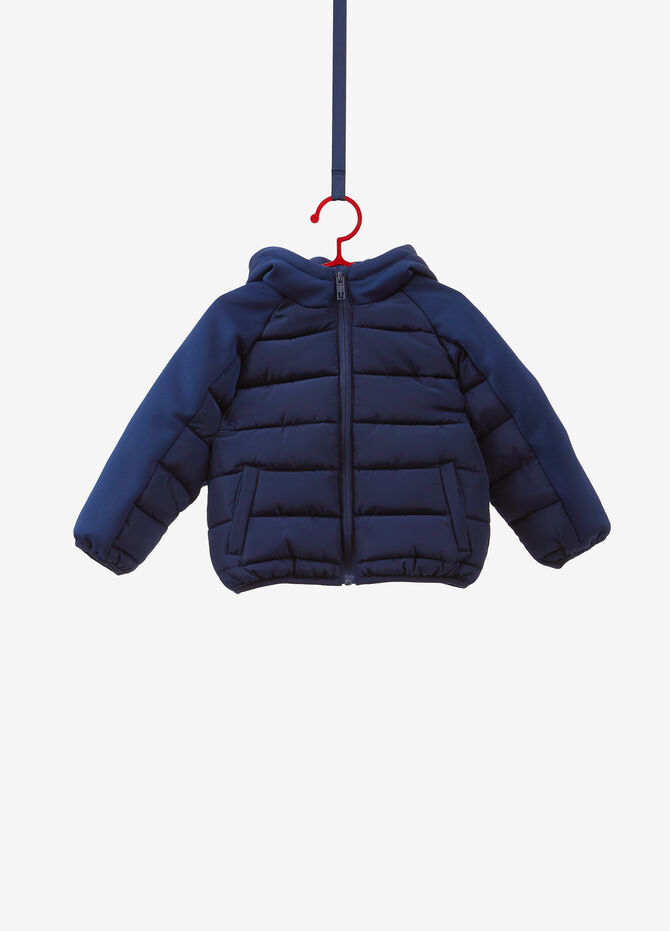 Solid colour quilted jacket