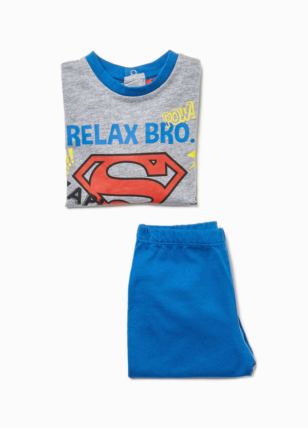 Cotton pyjamas with Superman print