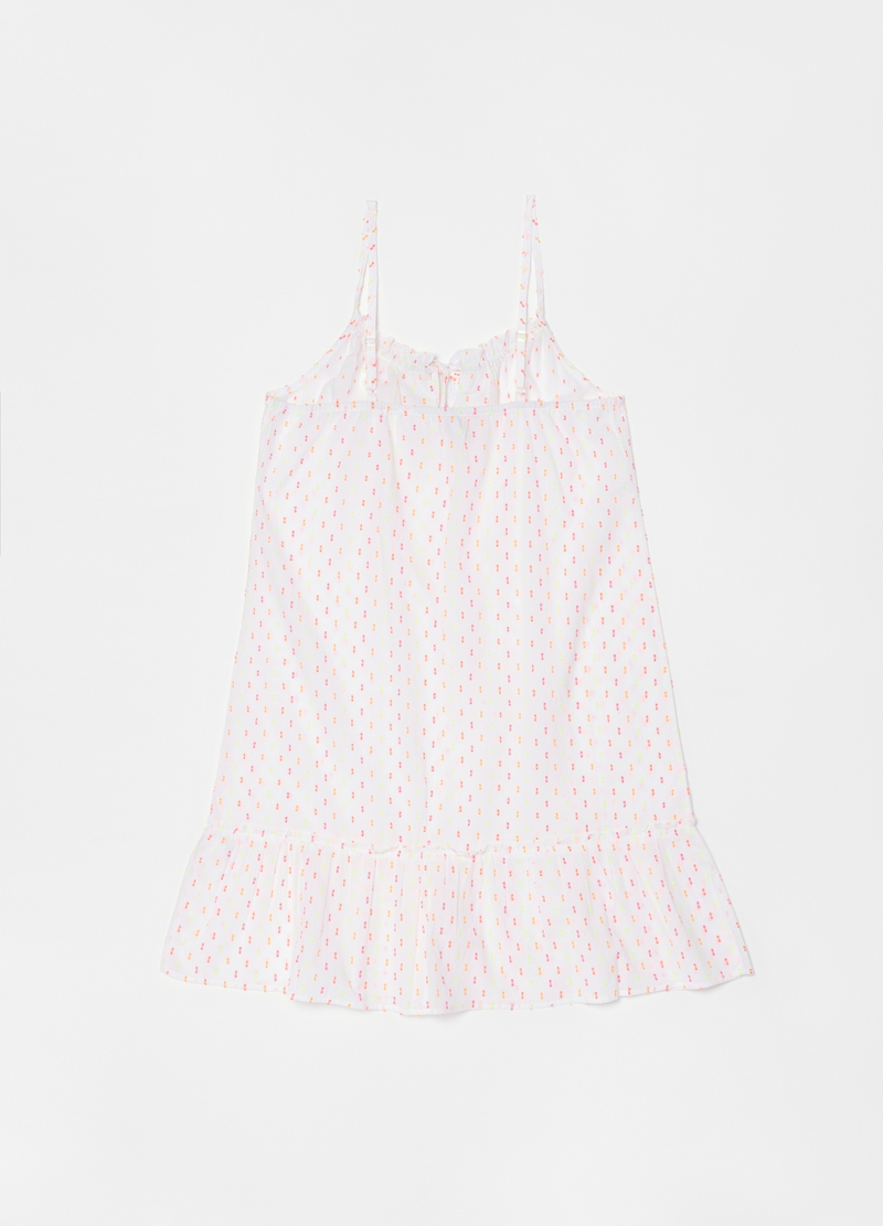 Short nightdress with laces image number null