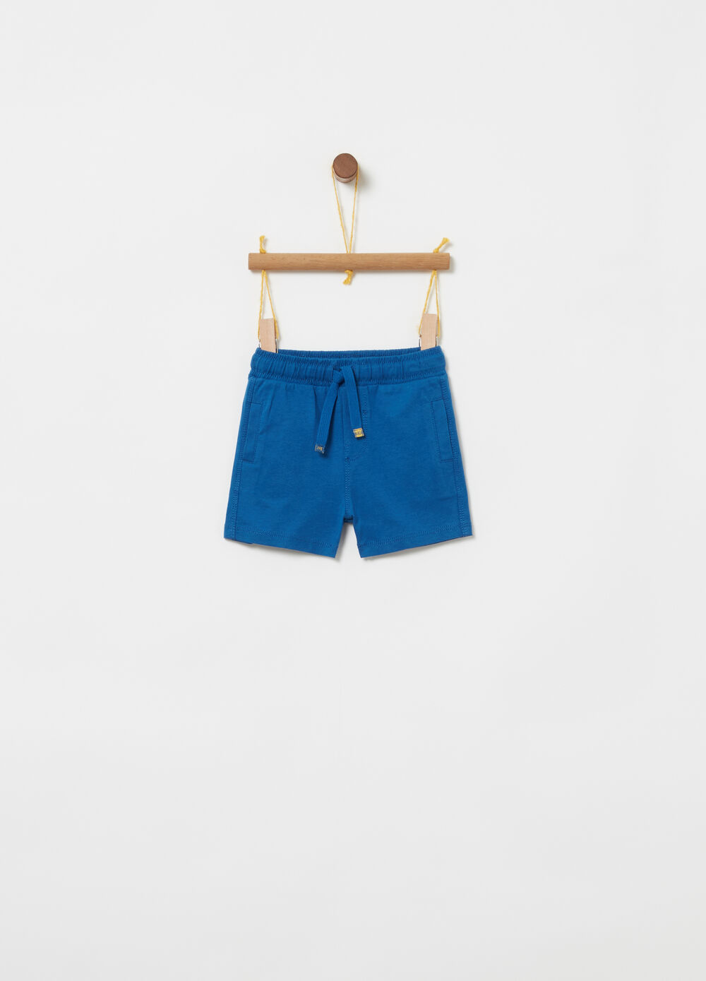8f59eaa57d9 100% cotton jersey shorts with drawstring