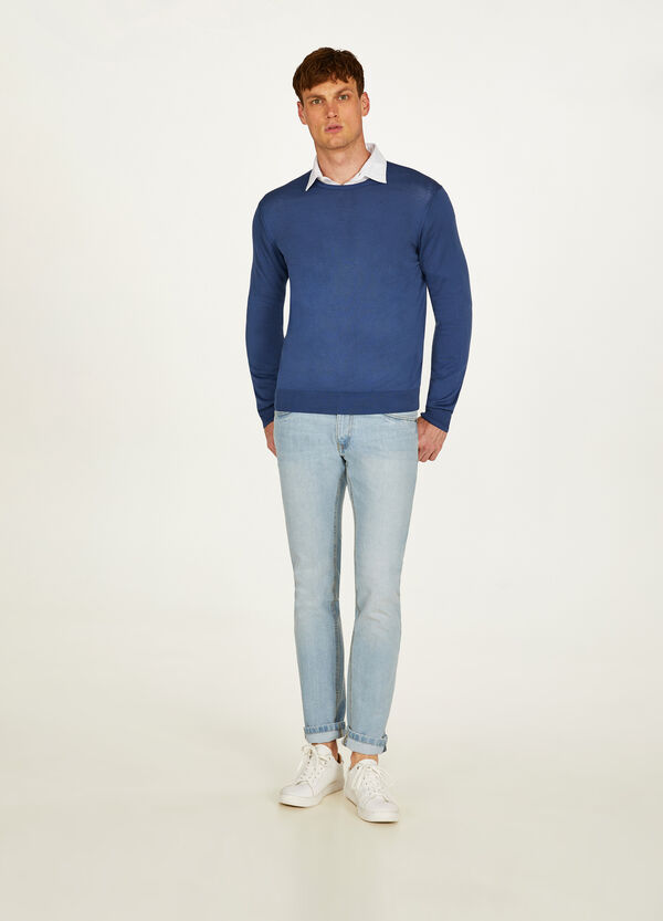 Solid colour 100% cotton pullover