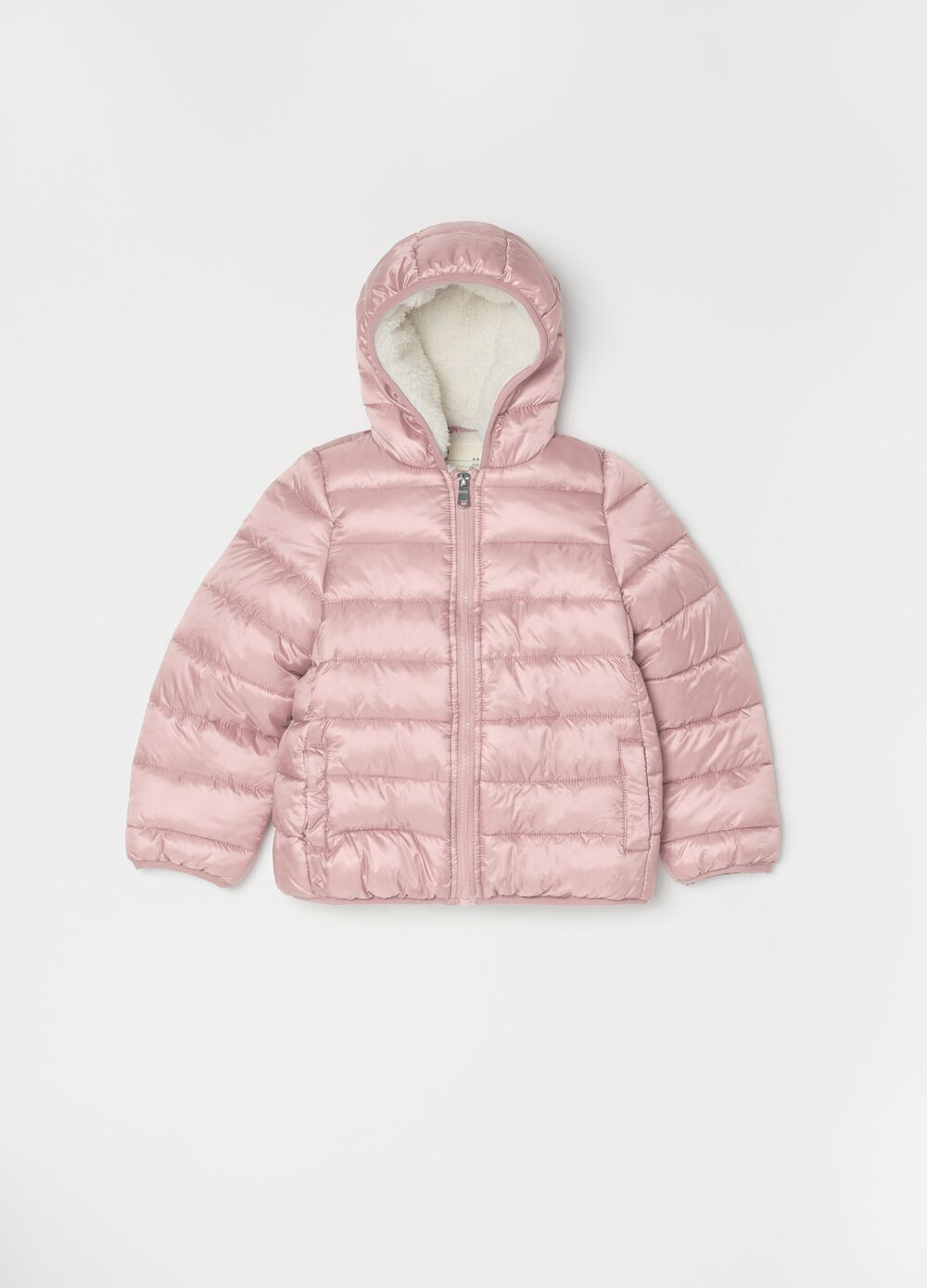 Padded and quilted jacket with pockets