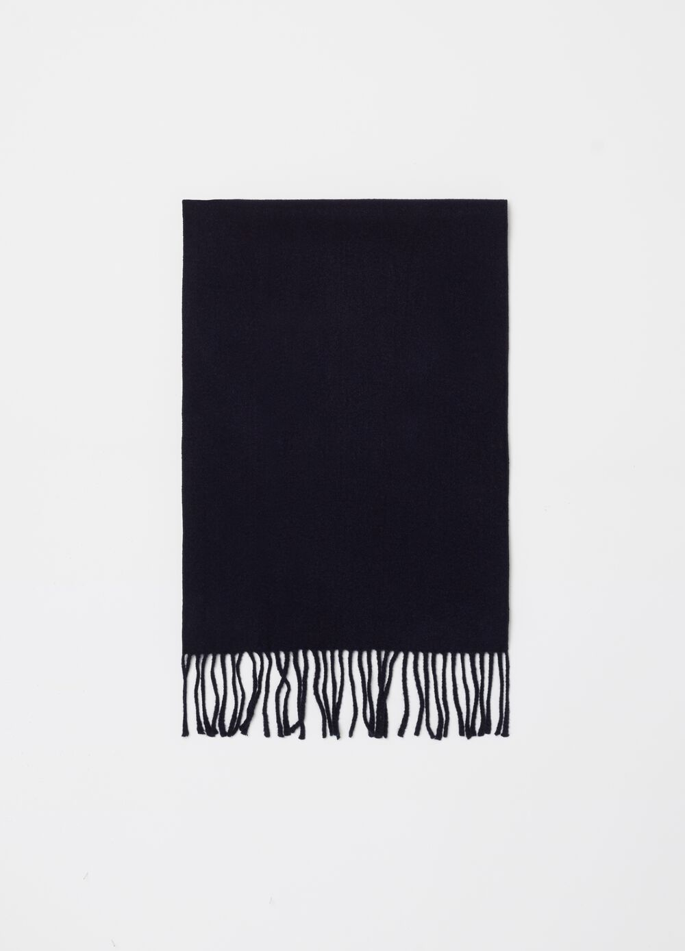 Stretch viscose scarf with lurex fringing