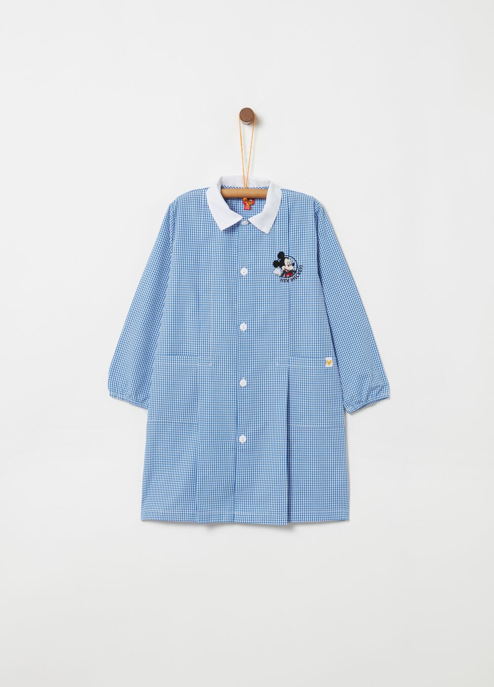 Smock with Mickey Mouse embroidery and pattern