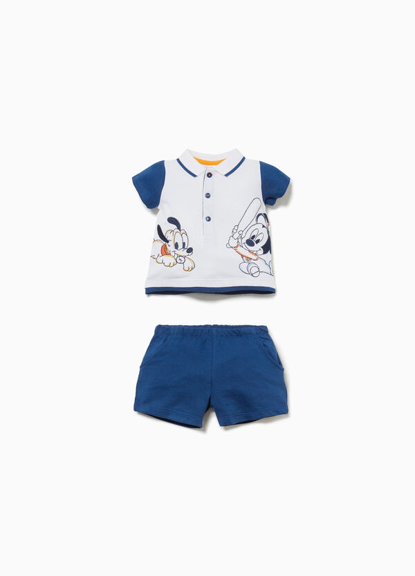 Mickey Mouse polo shirt and shorts set