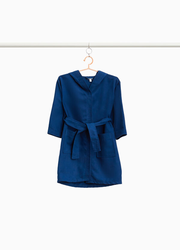 Solid colour bathrobe with belt