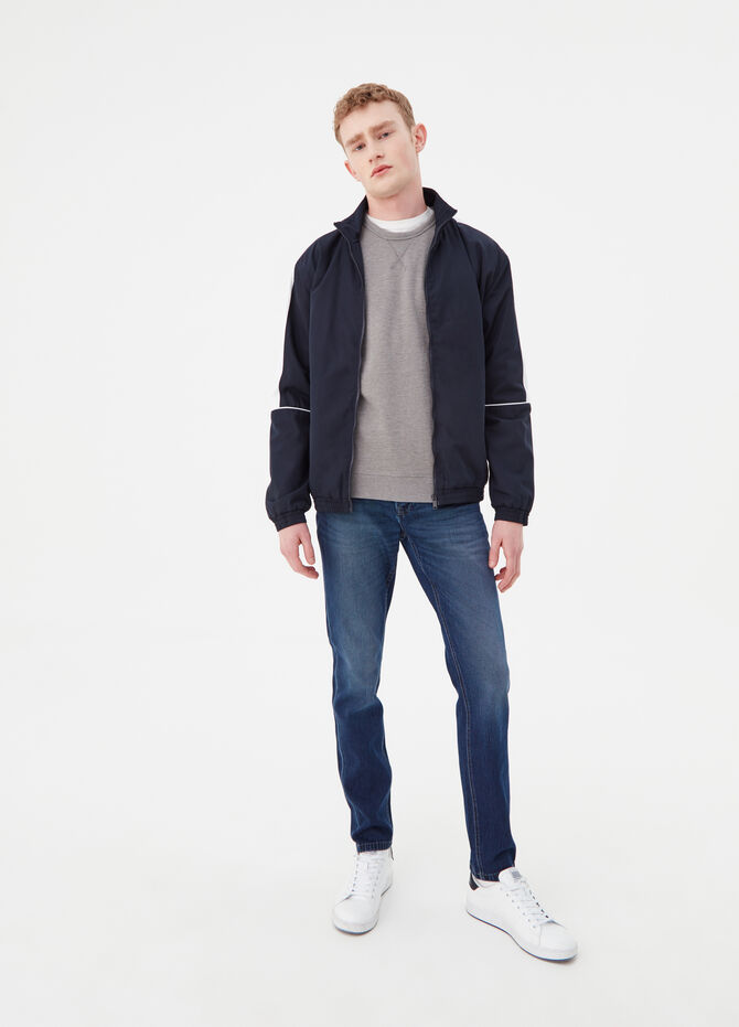Jacket with zip and bands