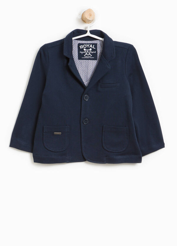 100% cotton jacket with lapels | OVS