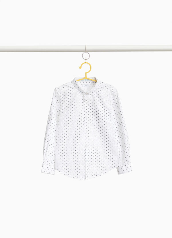 100% cotton shirt with micropattern