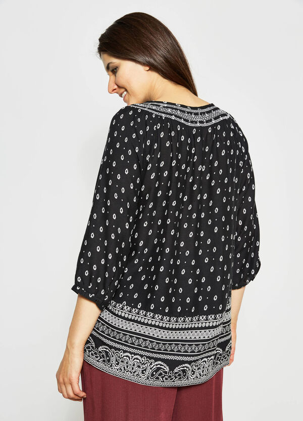 Curvy blouse with all-over print   OVS
