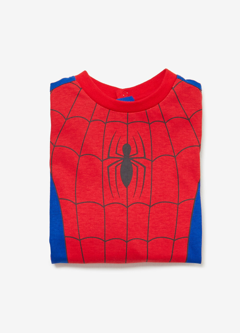 Two-tone Spiderman sleepsuit