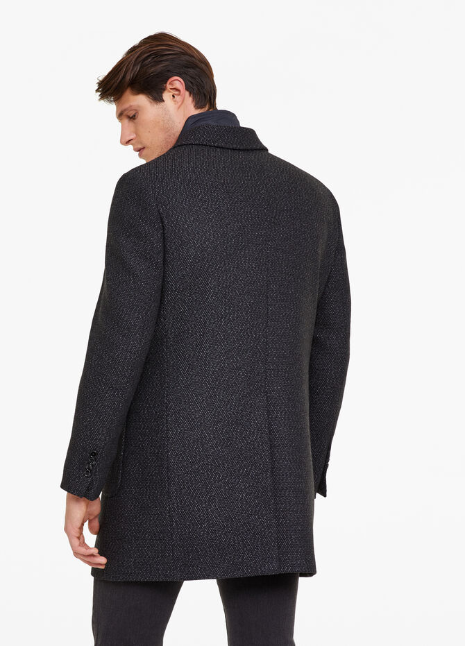 Regular-fit coat with faux gilet