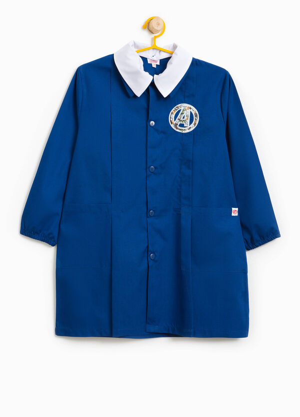 Cotton blend smock with The Avengers patches | OVS