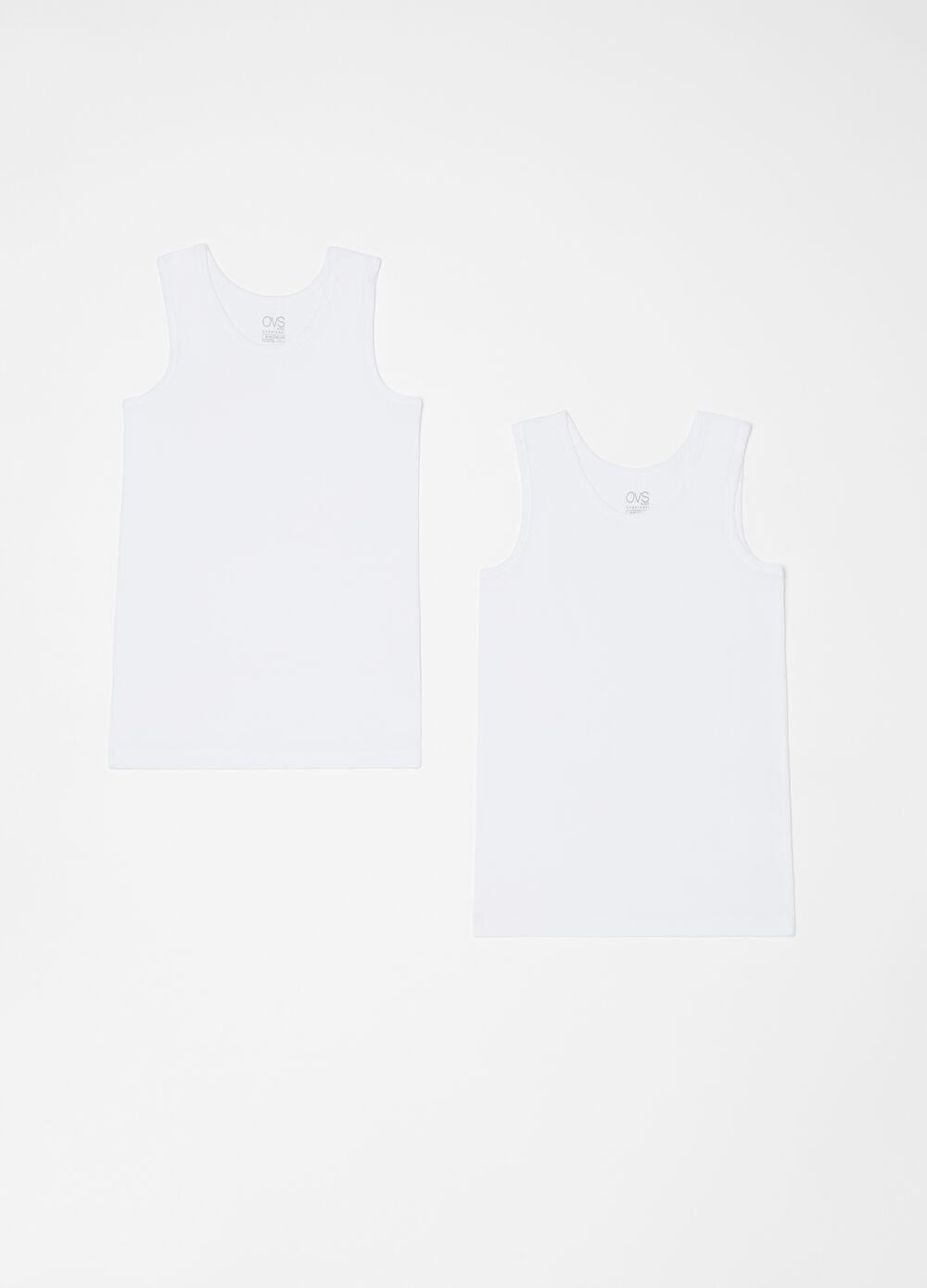 Two-pack 100% organic cotton racerback vests