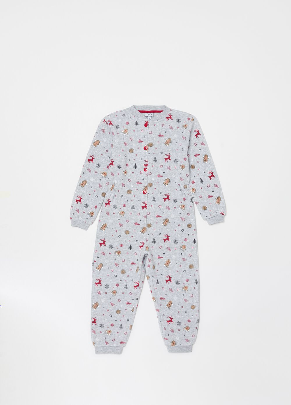 Sleepsuit with Christmas pattern