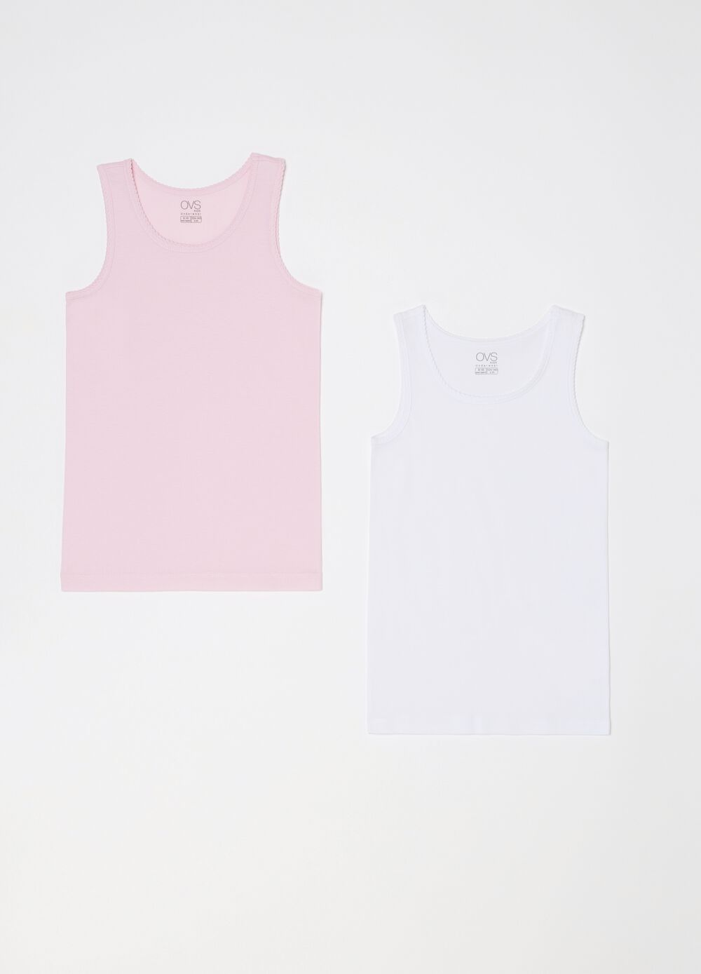 Two-pack organic cotton under vests